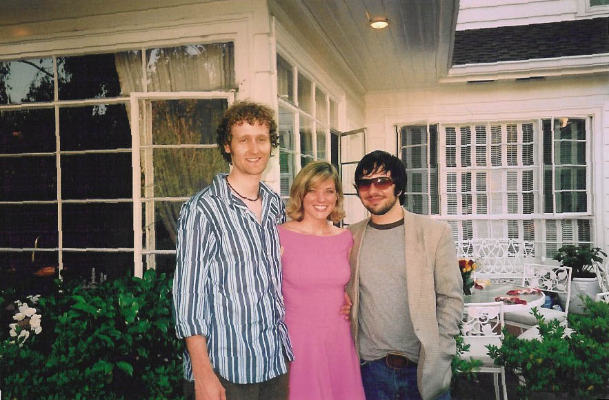 Me with my two best friends, Oliver & Erik, at my graduation party. May 2005