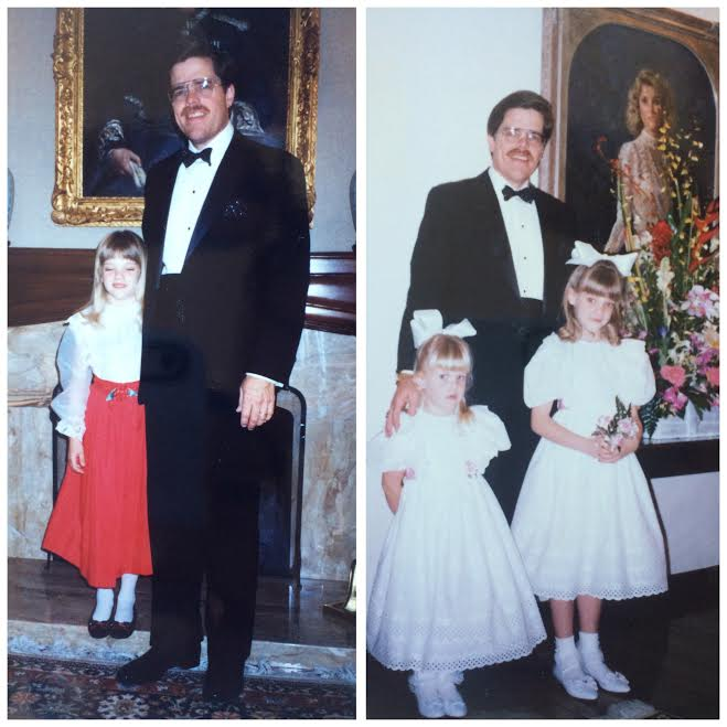 Two separate black tie events I attended with my father.  Yes, I grew up in Downton Abbey.