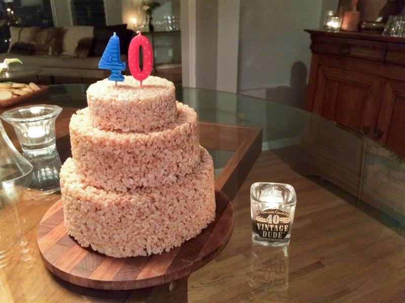rice krispie birthday cake